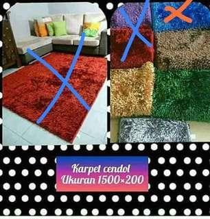 Karpet carpet cendol glossy perlengkapan rumah home decor