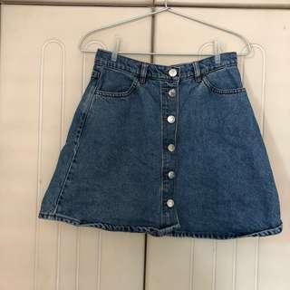 [PRICE REDUCED] Monki High-waist Denim Skirt