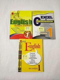 Secondary 1 English Assessment Books Grammar Vocabulary Cloze Comprehension Editing Synthesis Transformation