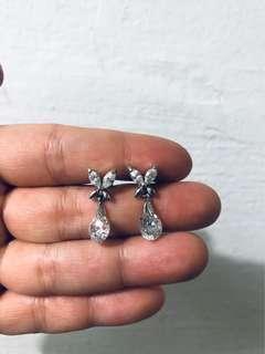 Semi gem butterfly earrings
