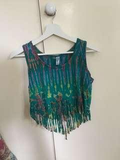Tie dye hippie crop top