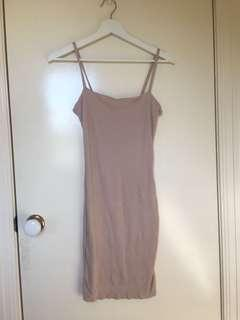Nude kookai bodycon dress