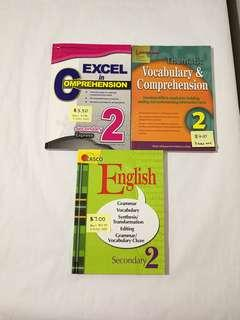Secondary 2 English Assessment Books Grammar Vocabulary Cloze Comprehension Editing synthesis Transformation