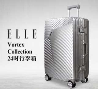 ELLE Vortex Collection 24吋行李箱 型號:51205 全新 鋁合金 人手工藝