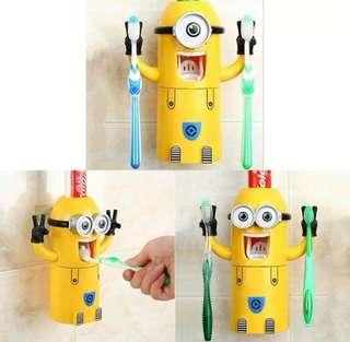 Toothpaste Dispenser 2 Toothbrush Holder Christmas Gift