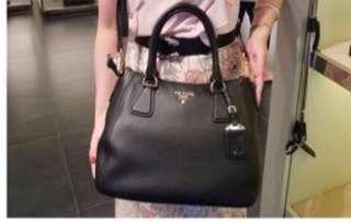 1d75460f66 Brand new authentic Prada Vitello PhenixBlack Leather bag with Crossbody  Strap