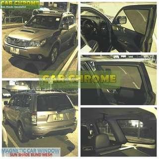 富士 Subaru FORESTER IMPREZA WRX STI X 11 XV LEGACY 專用磁石版本車窗網