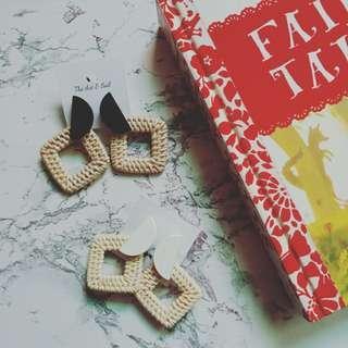 Rattan Earrings (Patricia)