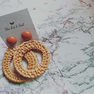 Rattan Earrings (Sherl)