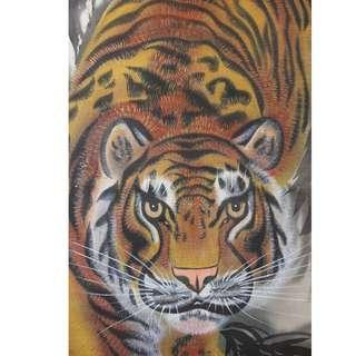 Strong Walking Tiger~ Japanese hanging scroll