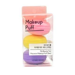 🚚 Etude House My Beauty Tool Macaroon Makeup Puff 1 pack (3 pcs) - BeautyBubble