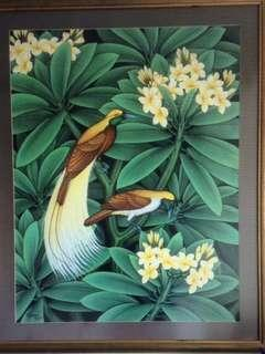 Paintings, framed (from Bali & Vietnam