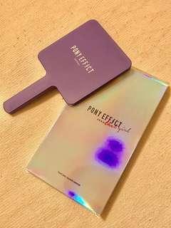 🇰🇷Pony Effect Seoul purple handheld square mirror 紫色化妝鏡