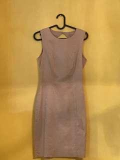 H&M beige workdress with diamond cut (Knee Level for 1.58M)