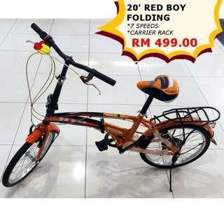 Red Boy Folding Bicycle