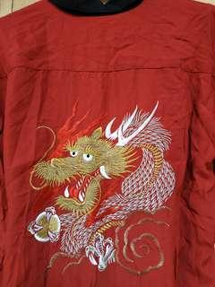 Kemeja Sukajan dragon