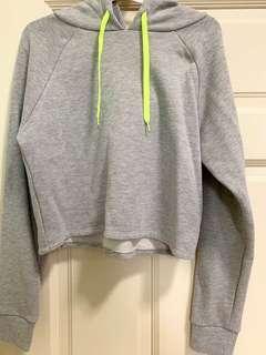 Forever21 REAL Crop Sporty Grey Hoodie