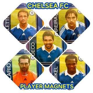 #XMAS50 Chelsea FC Official Player Magnet Original - Deco, Ferreira, Belleti, Mikel, Hilario