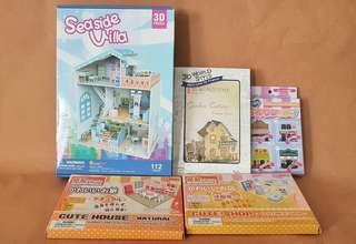 Dollhouse 3D Puzzle Bundle of 5