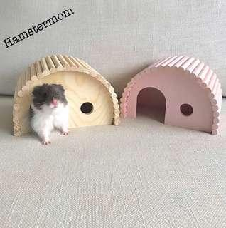 Hamster Wooden Hideout House & Bridge Toy