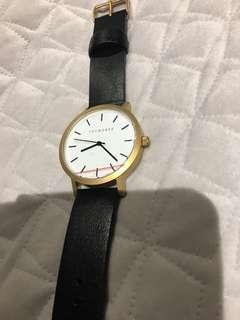 The horse original black/white/gold watch