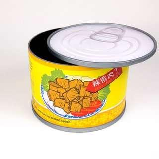 *Temporary Out of Stock - Spicy Pork Cubes Canned storage Food Stool / Low Table ( Furniture / Home Decor )