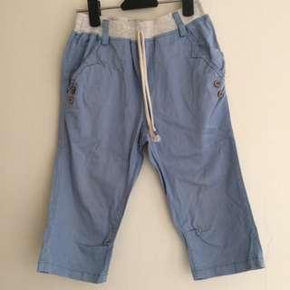 男童水藍色7分褲