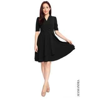 Alyssandra: Tuxedo Flare Dress – Black (BNWT)