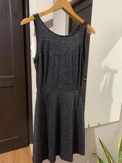 Glittery backless dress