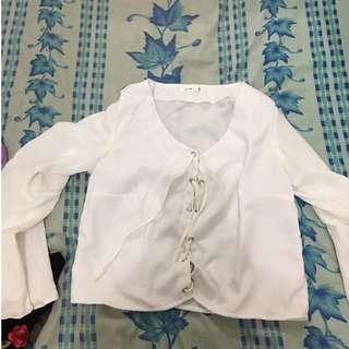 mulier tie up blouse