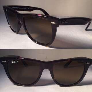 Ray Ban Wayfarer RB2140 902/57 Sunglasses Polarized Hand Made in Italy