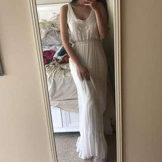 tree of life white maxi dress