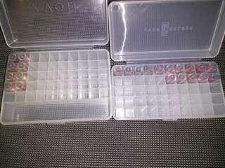 23 x Avon lipstick samples including storage containers