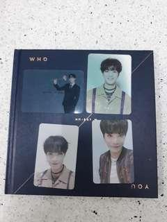 Nuest w who you album with full set JR
