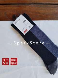 Uniqlo Kaos Kaki Regular Socks Block Hitam