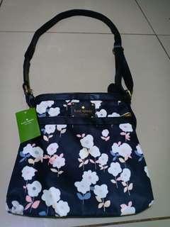 Kate Spade Black Floral Sling Bag