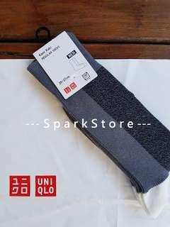 Uniqlo Kaos Kaki Regular Socks Block Abu-Abu