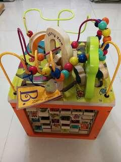 全木制多功能動物園玩具箱