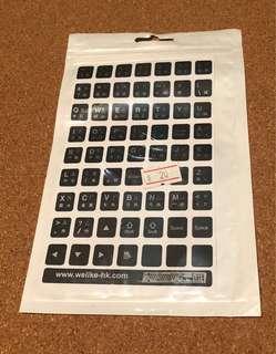 倉頡碼鍵盤貼(只有一張)