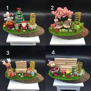 Pen holder and card/ sticky notepad holder (Christmas gifts)