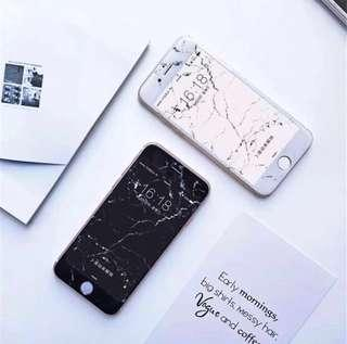 Apple iPhone 6/6s White Marble Tempered Glass