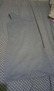 Preloved fitted gray dress