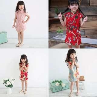 Kid girl CNY 2019 dress