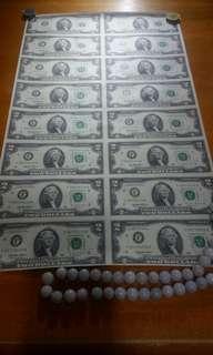 1995年2元美金16連
