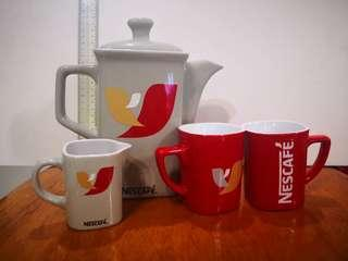 Nescafe Teapot & Cups Set - Limited Edition - 5 sets available