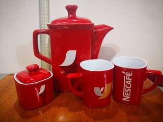 Nescafe Teapot & Cups Set - Limited Edition - 4 sets available
