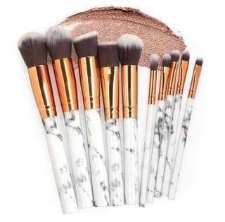 Marble Make Up Brush (10pcs.)