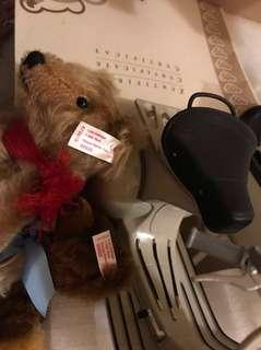 "Steiff Bear ""Vespa Roller Set"" Limited Edition 1500 pieces"