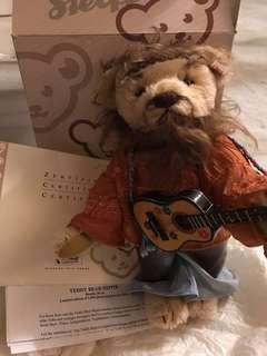 "Steiff Bear ""Hippie"" Limited Edition 1500 pieces"
