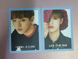 WTT Wanna One To Be One Sky Version PC Daehwi / Jisung